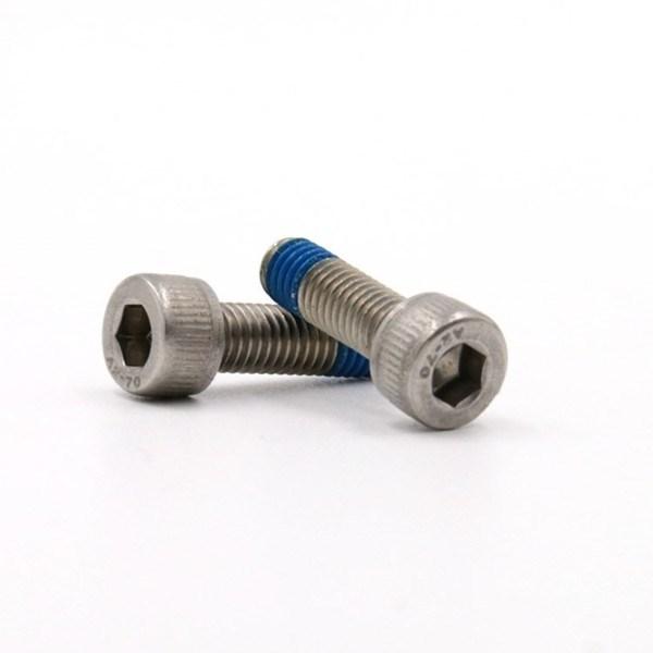 M5*12圆柱头内六角不锈钢防松螺丝