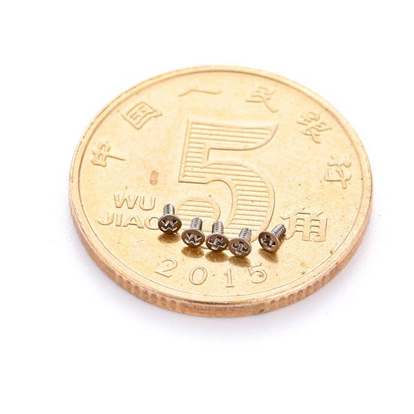 不锈钢沉头十字M0.8微型螺丝螺丝