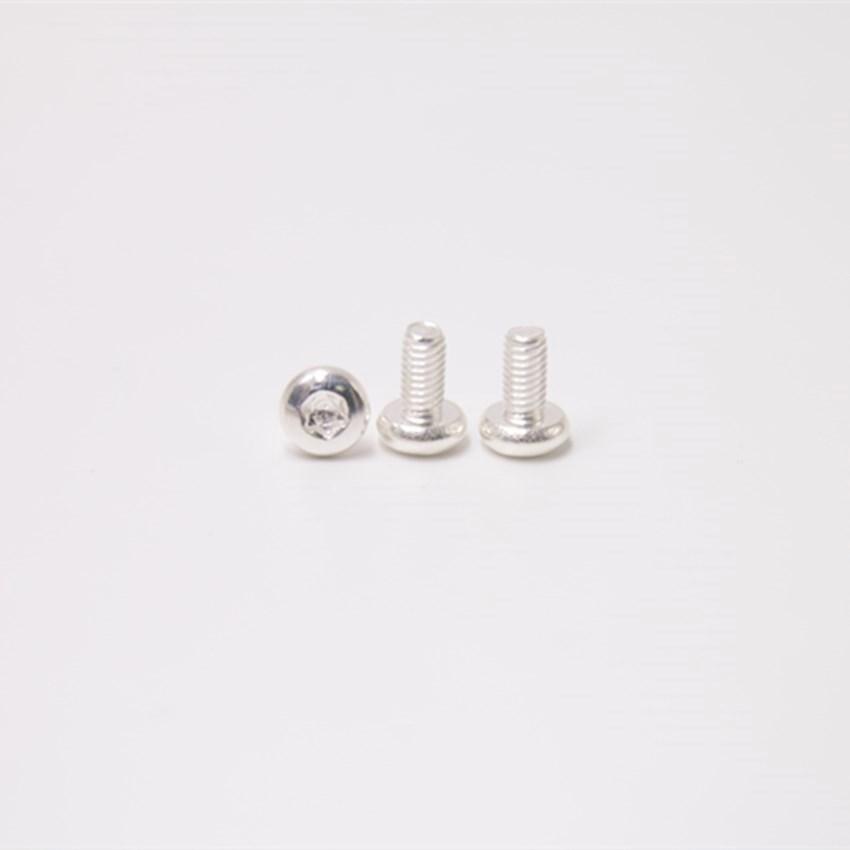M4*8盘头梅花镀银螺丝