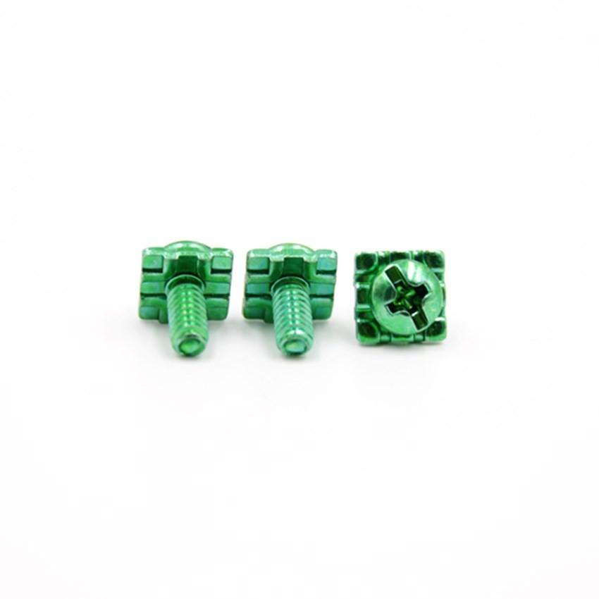盘头十字方垫端子绿螺钉